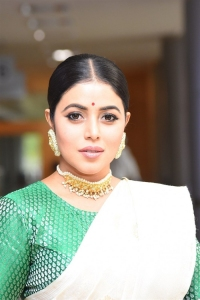 Actress Poorna Saree Images @ Thalaivi Pre Release Event