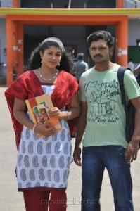 Eshwar, Madhu Sri in Poorvakudi Movie Stills