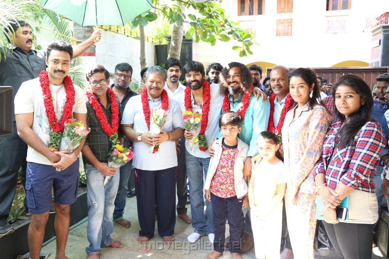 Power Paandi Tamil Movie Pooja Stills