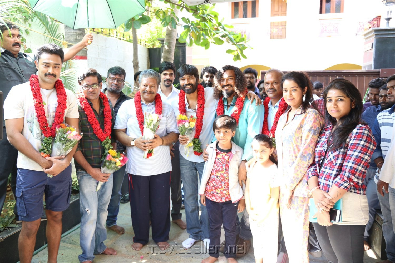 Director Dhanush's Power Paandi Movie Pooja Stills