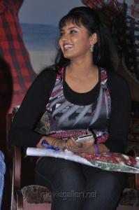 Actress Aarushi at Azhagan Azhagi Powerstar Song Launch Photos