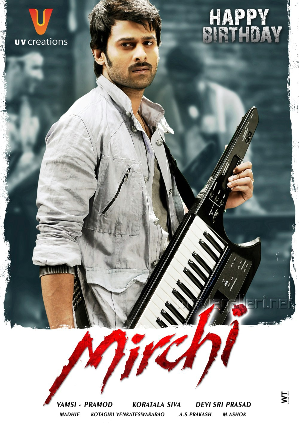 Prabhas Mirchi Telugu Movie First Look Posters