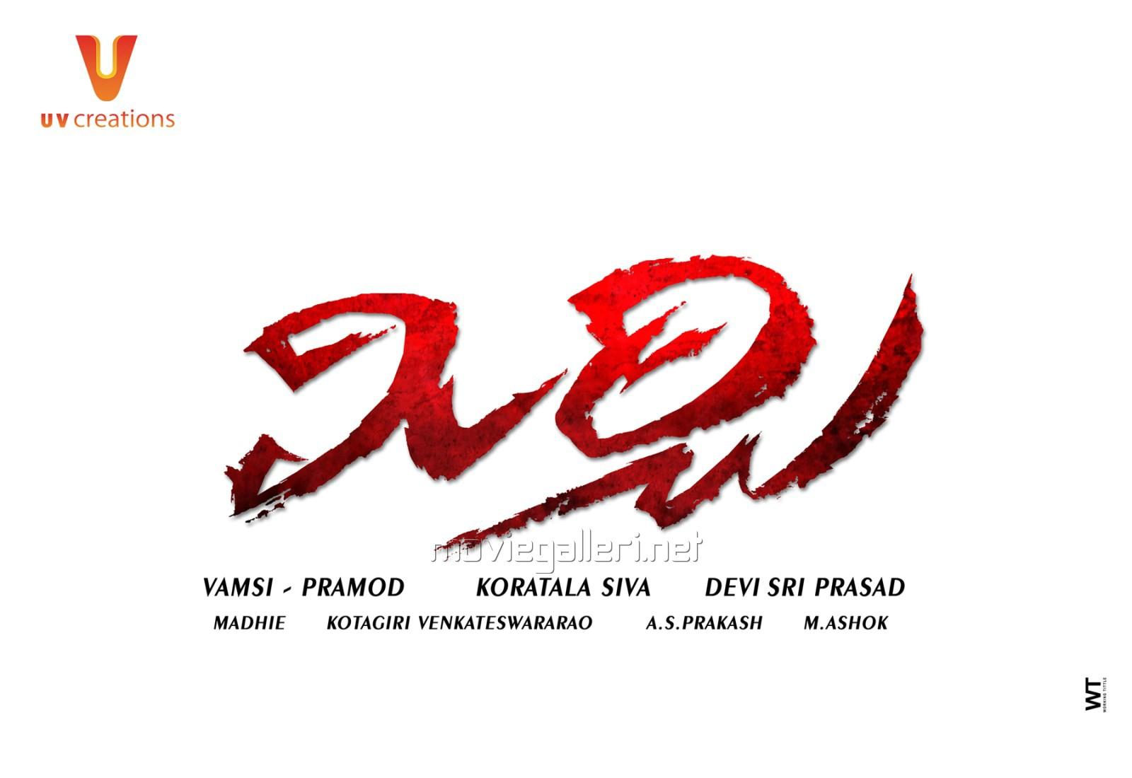 Prabhas Mirchi Telugu Movie Logo First Look Wallpapers