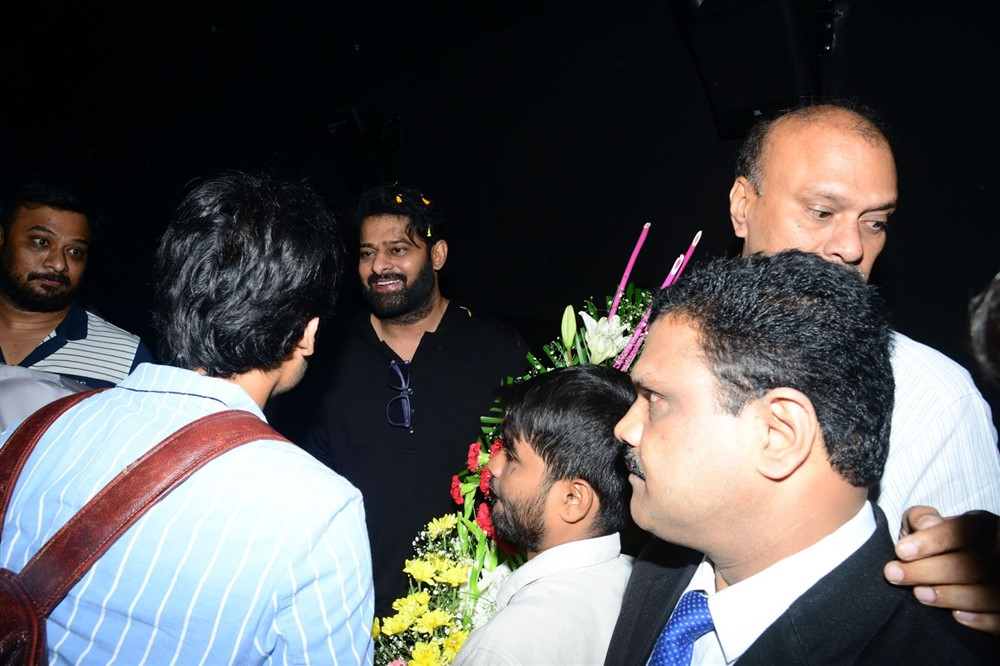 Prabhas watches Saaho Movie @ AMB Cinemas Photos