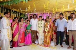 Prabhu Thej (S/o Senior Make up chief Kolli ramu) weds Varsha
