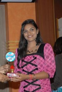 Telugu Actress Prakruthi Stills at Good Morning Platinum Disc Function