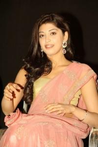 Actress Pranitha in Saree Photos at Saguni Audio Release