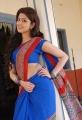 Actress Pranitha in Blue Saree Hot Stills