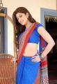 Actress Praneetha in Blue Saree Hot Stills