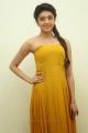 Actress Pranitha New Stills in Yellow Long Dress