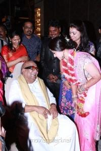 Kanimozhi, Karunanidhi at Sneha Reception Stills