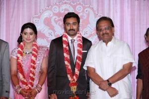SP Balasubramaniam at Prasanna Sneha Wedding Reception Photos
