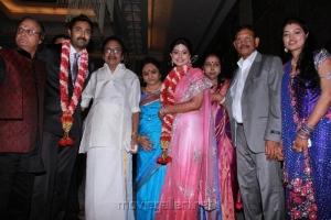 SS Rajendran at Prasanna Sneha Wedding Reception Photos
