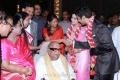 Karunanidhi, Rajathi Ammal, Kanimozhi at Prasanna Sneha Wedding Reception Photos