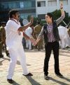 Raghu Babu, Charmi in Prathighatana Telugu Movie Stills
