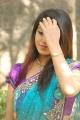 Actress Prathista Photos in Light Blue Designer Saree