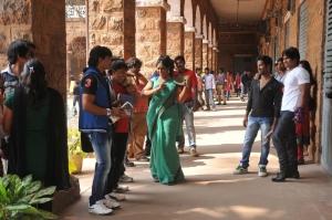 Actress Jayavani at Prema Geema Jantha Nai Movie Working Stills