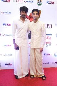 Sivakarthikeyan, Anirudh @ Pride of Tamil Nadu Awards 2017 Stills