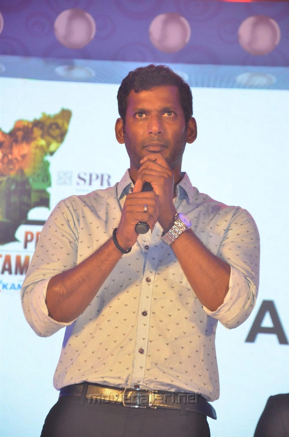 Actor Vishal @ Pride of Tamil Nadu Awards 2017 Stills