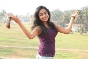 Actress Prithiksha Mythili Hot Photos in Dark Violet Top & Short Trouser