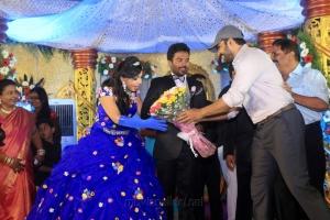 Karthi, Sivakumar @ Pandiarajan Son Prithvi Rajan Akshaya Premnath Wedding Reception Stills