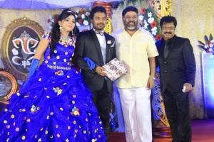 P Vasu @ Pandiarajan Son Prithvi Rajan Akshaya Premnath Wedding Reception Stills