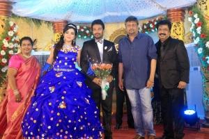 Dharani @ Pandiarajan Son Prithvi Rajan Akshaya Premnath Wedding Reception Stills