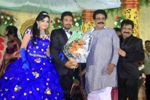 Livingston @ Pandiarajan Son Prithvi Rajan Akshaya Premnath Wedding Reception Stills