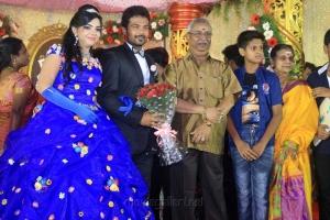 Manikka Vinayagam @ Pandiarajan Son Prithvi Rajan Akshaya Premnath Wedding Reception Stills