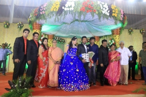 Editor Mohan, Jayam Raja @ Pandiarajan Son Prithvi Rajan Akshaya Premnath Wedding Reception Stills