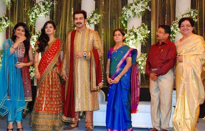 Picture 9108 Prithviraj Supriya Menon Wedding Reception Stills