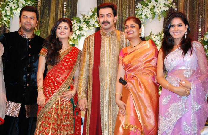 Picture 9109 | Prithviraj Supriya Menon Wedding Reception ...