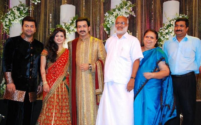 Picture 9111 Prithviraj Supriya Menon Wedding Reception Stills