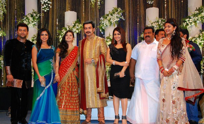 Picture 9119 | Prithviraj Supriya Menon Wedding Reception ...