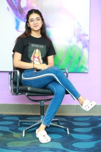 Check Movie Heroine Priya Prakash Varrier Interview Pictures