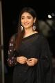 Priya Vadlamani Black Saree Photos @ Husharu Movie 50 Days Celebrations