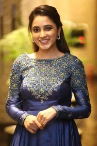 Doctor Movie Actress Priyanka Arul Mohan Blue Dress Photos