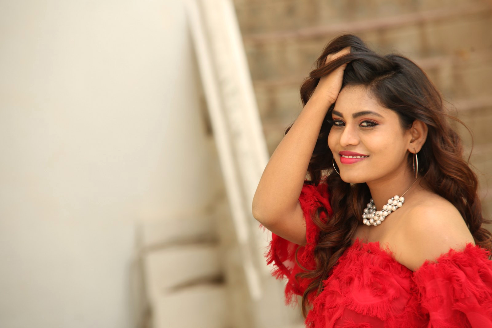 Actress Priyanka Augustin Photos @ Prema Antha Easy Kadu Press Meet