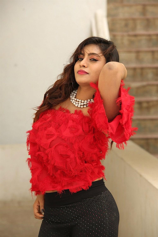 Actress Priyanka Augustin Hot Photos @ Prema Antha Easy Kadu Press Meet