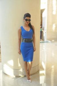 Actress Priyanka Chopra Hot Pics in Blue Dress