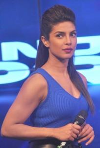 Actress Priyanka Chopra in Blue Dress Hot Pics