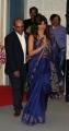 Actress Priyanka Chopra in Blue Saree Hot Photos