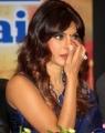 Priyanka Chopra Hot Blue Saree Photos with sleeveless saree blouse