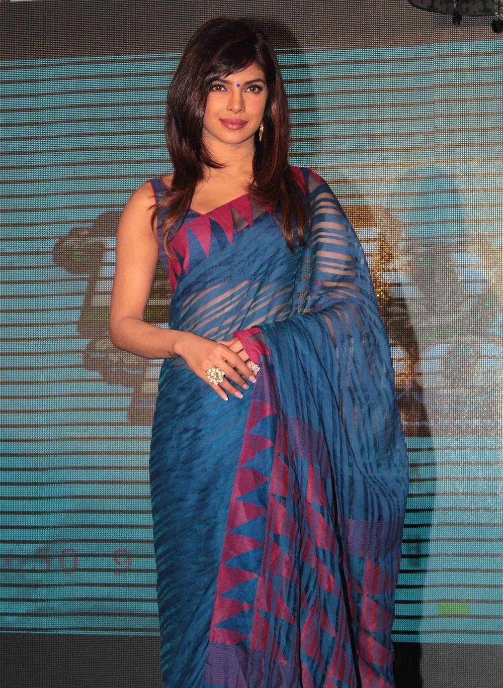 Actress Priyanka Chopra Latest Saree Photos | New Movie ...