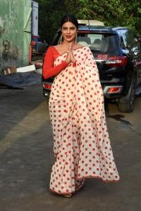 Actress Priyanka Chopra Latest Saree Photos