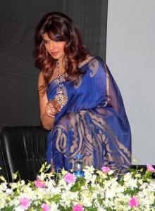 Bollywood Actress Priyanka Chopra Saree Latest Photos