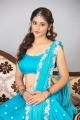 Actress Priyanka Jawalkar in Blue Saree Photoshoot Stills