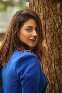 Thimmarusu Movie Heroine Priyanka Jawalkar Blue Dress Stills