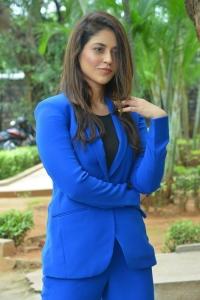 Thimmarusu Heroine Priyanka Jawalkar in Blue Dress Stills