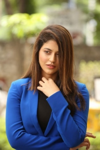 Thimmarusu Movie Actress Priyanka Jawalkar Blue Dress Stills